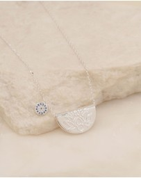 By Charlotte - Lucky Lotus Silver Pendant Necklace
