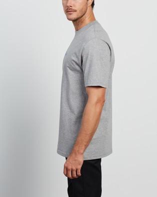 Carhartt - SS Neon Script T Shirt - T-Shirts & Singlets (Grey Heather) SS Neon Script T-Shirt