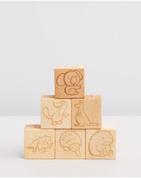 Australian Animals Wooden Blocks