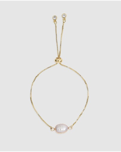 Arms Of Eve Cayman Freshwater Pearl Bracelet Gold