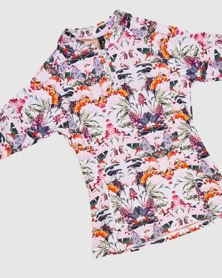 Aqua Blu Kids Delilah Rash Vest Set   Teens - Bikini Set (Delilah)