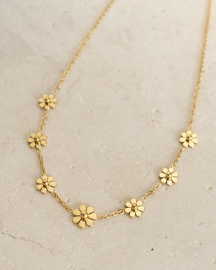 Hunter x Hunter Gold Daisy Chain Necklace - Jewellery (Gold)