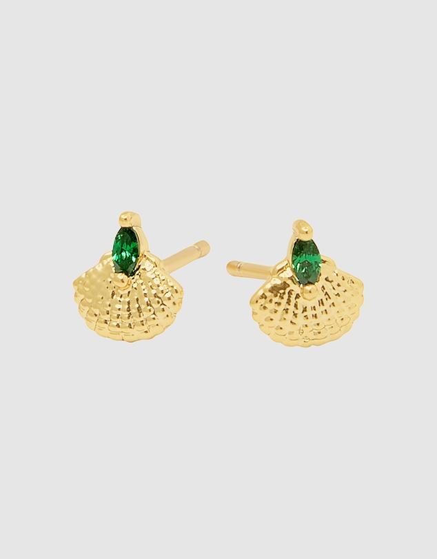 Women Emerald Sea Earrings