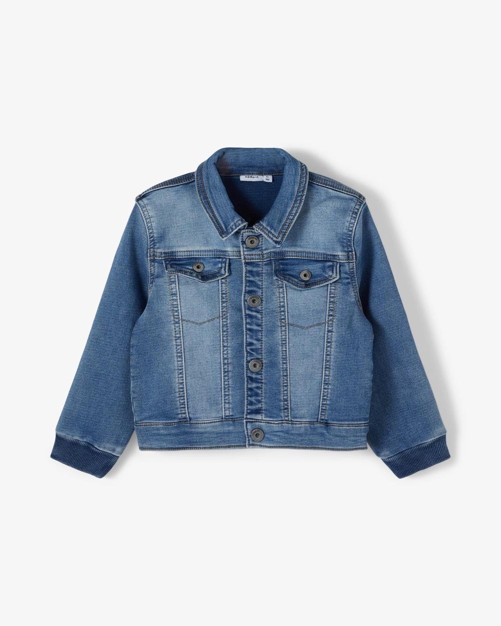 Name It Adeas Denim Sweat Jacket Babies Kids jacket Medium Blue Denim Babies-Kids Australia