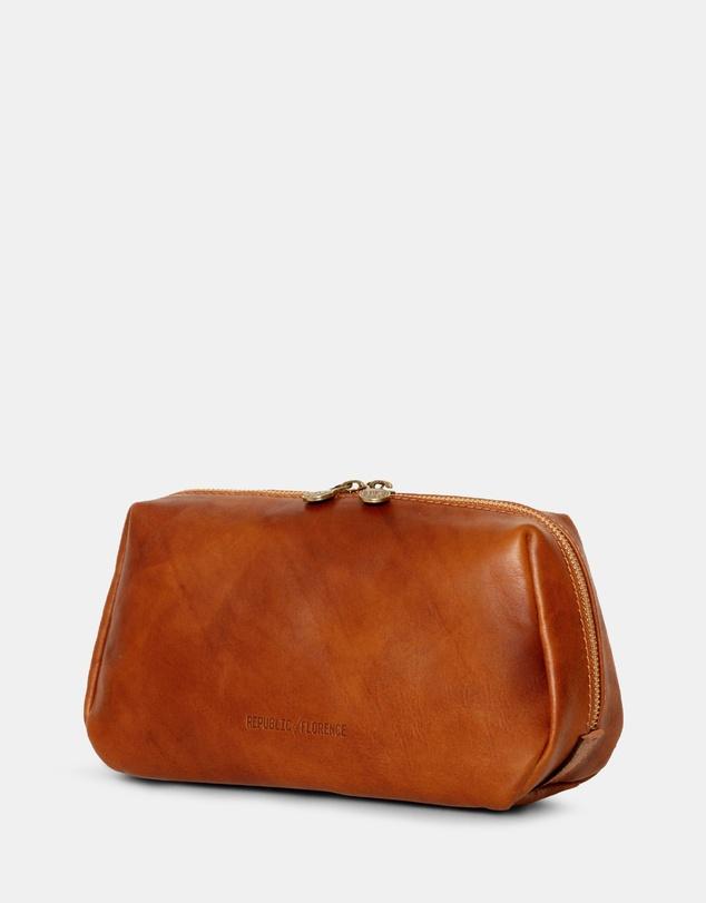 Life The Otto Leather Dopp Kit Matt Tan
