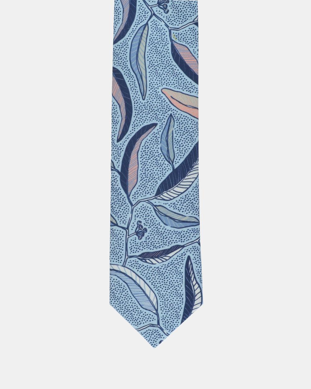 Peggy and Finn Eucalyptus Tie Ties Blue Australia