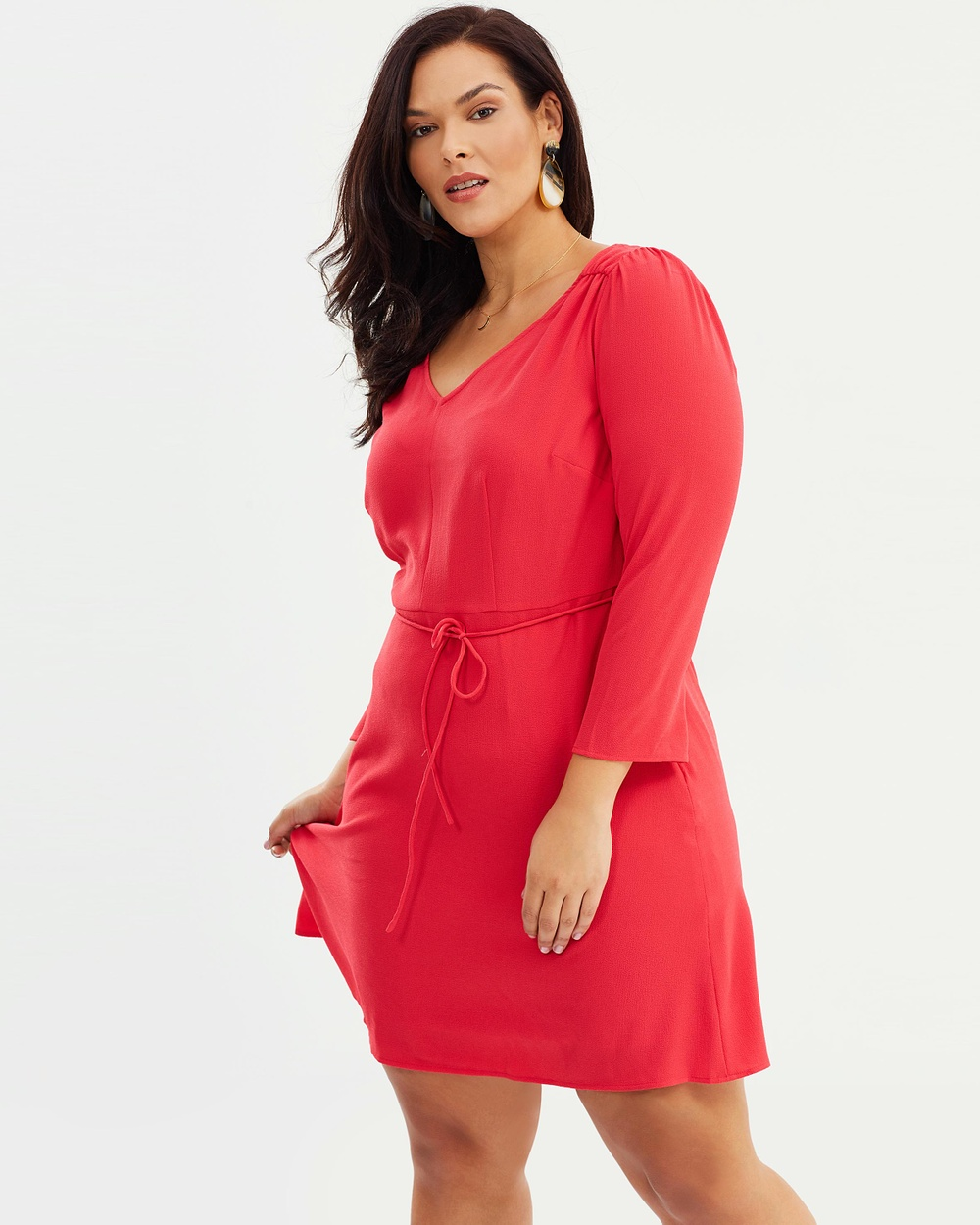 Violeta by MNG Resort Dress Dresses Red Resort Dress