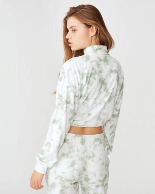 Cotton On Body Active Half Zip Fleece Crew - Sweats (Mint Chip Dip Dye)