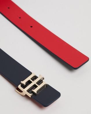 Tommy Hilfiger Reversible 3.0 Belt - Belts (Navy & Red)