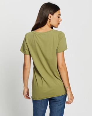 DRICOPER DENIM Yenny V Neck Tee - T-Shirts & Singlets (Khaki )