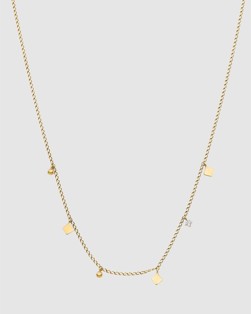 Luna Rae Solid Gold Mirrored Stars Necklace Jewellery Gold