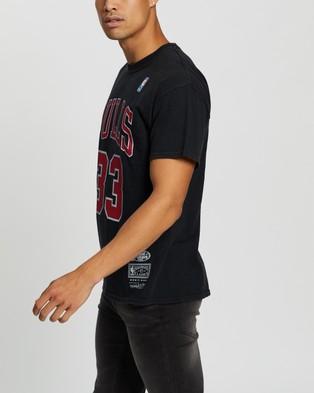 Mitchell & Ness Scottie Pippen Chicago Bulls Tee - Short Sleeve T-Shirts (Vintage Black)