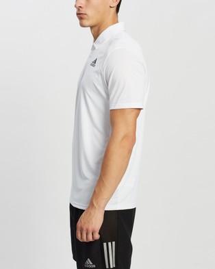 adidas Performance Tennis Club 3 Stripes Polo Shirt - Shirts & Polos (White & Black)