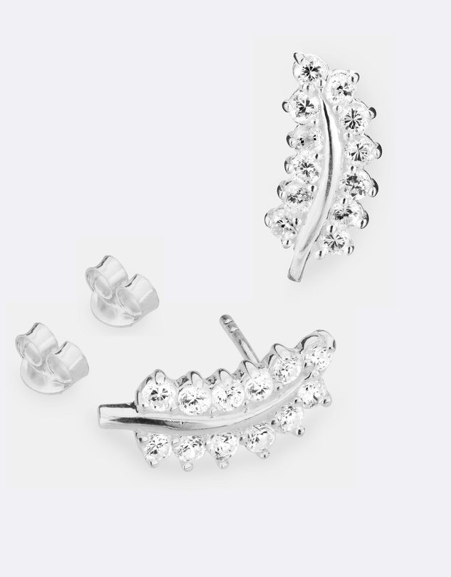 Women Fine Leaf Ear Cuff - Set