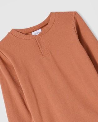 Milky - Rib Henley   Kids - T-Shirts & Singlets (Brick) Rib Henley - Kids