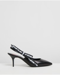 LOVE MOSCHINO - Grosgrain Slingback Pumps