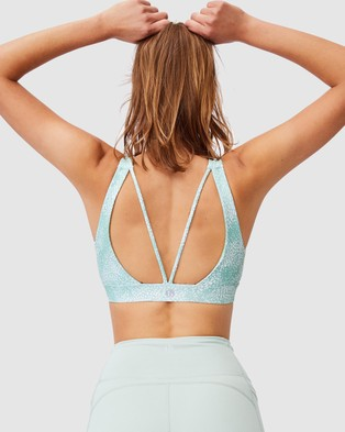 Cotton On Body Active Cutout Back Crop Top - Crop Tops (Sea Spray Mint Chip)