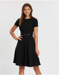 Dorothy Perkins - Fit-And-Flare Short Sleeve Dress