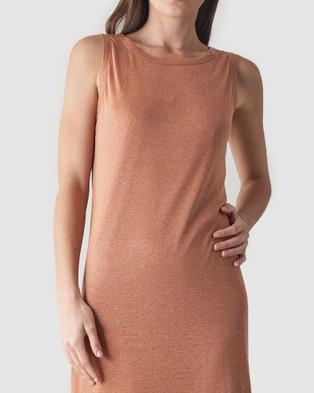 Amelius Aceline Linen Tank Dress - Dresses (Rust)
