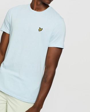 Lyle and Scott Plain T Shirt - T-Shirts & Singlets (Pastel Blue)