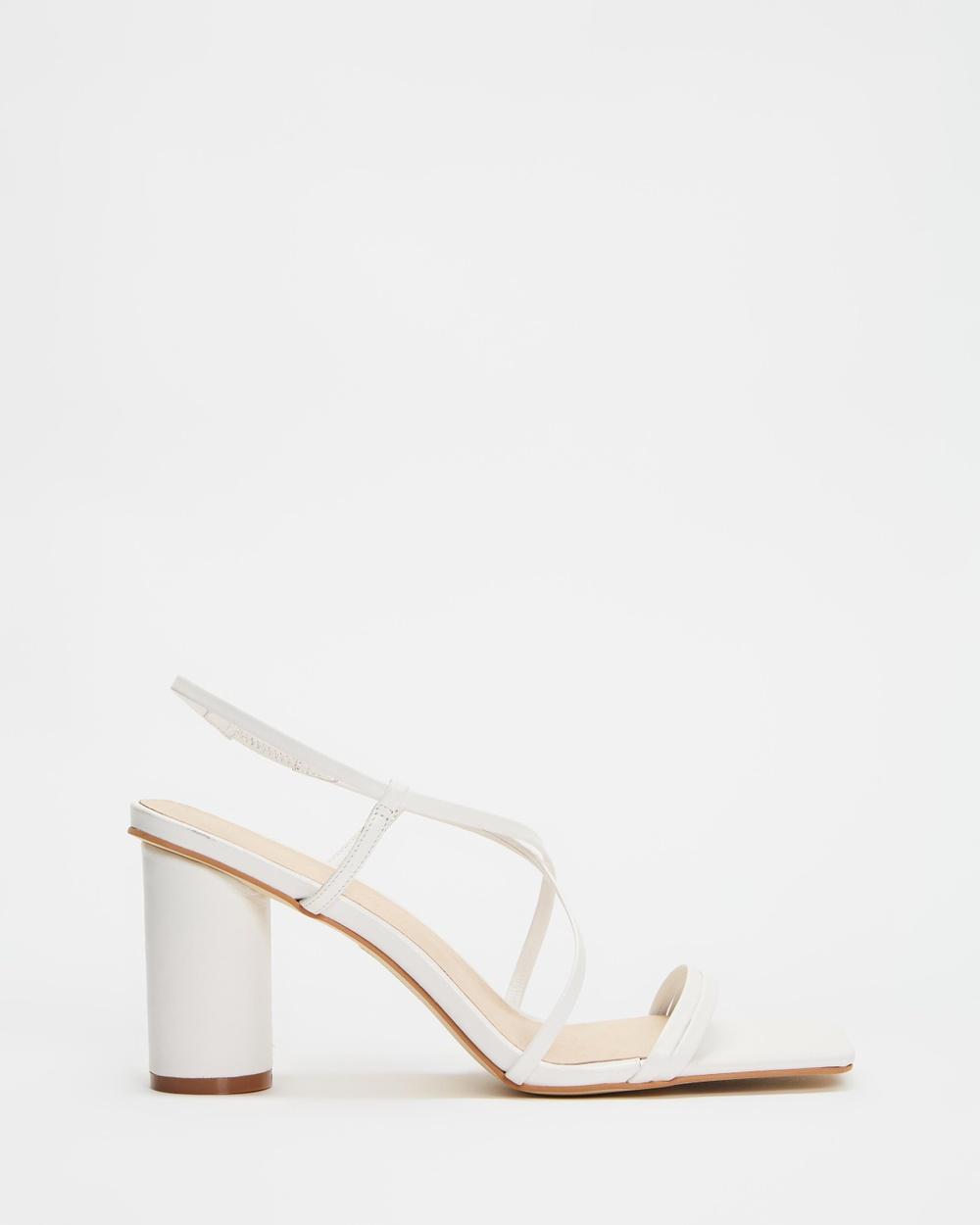 Sol Sana THE ICONIC EXCLUSIVE Nova Heels Sandals White Australia