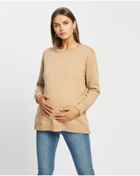 Cotton On Maternity - Maternity Button Side Fleece - The Iconic Exclusive