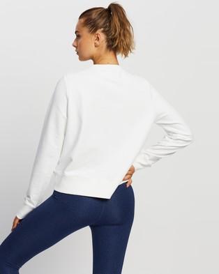 Nimble Activewear Embroidery Crew - Clothing (White)