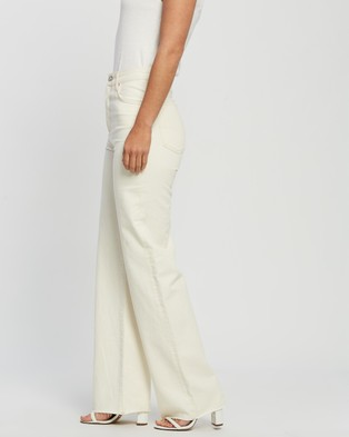 M.N.G Nora Jeans - High-Waisted (Light Beige)