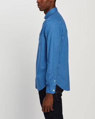 NAUTICA Oxford Plaid Shirt - Clothing (French Blue)