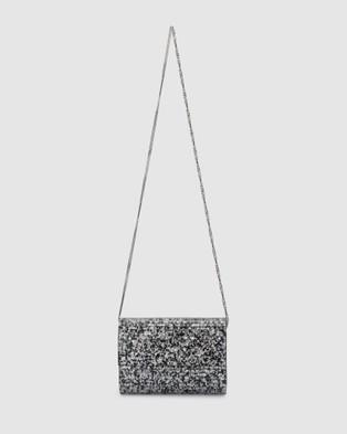 Olga Berg Stacer Acrylic Foldover Clutch - Clutches (Black)