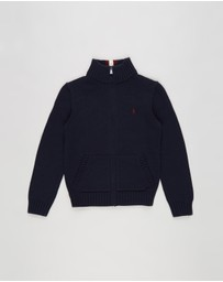 Polo Ralph Lauren - LS Full-Zip Mock Sweater - Teens