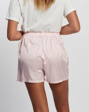 Atmos&Here Stripe Sleep Shorts Sleepwear Pink