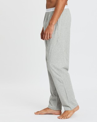 Calvin Klein Sleep Pants Sleepwear Grey Heather & White
