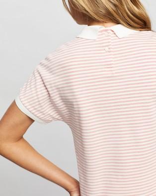 Lacoste Classic Stripe Textured Pique Polo - Tops (Corri)