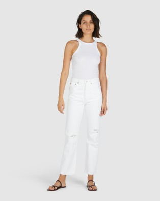Chosen By Tuchuzy Girlfriend High Neck Singlet - T-Shirts & Singlets (White)