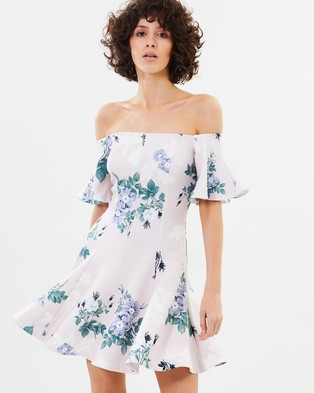Lover – Petunia Off Shoulder Dress – Printed Dresses Pearl
