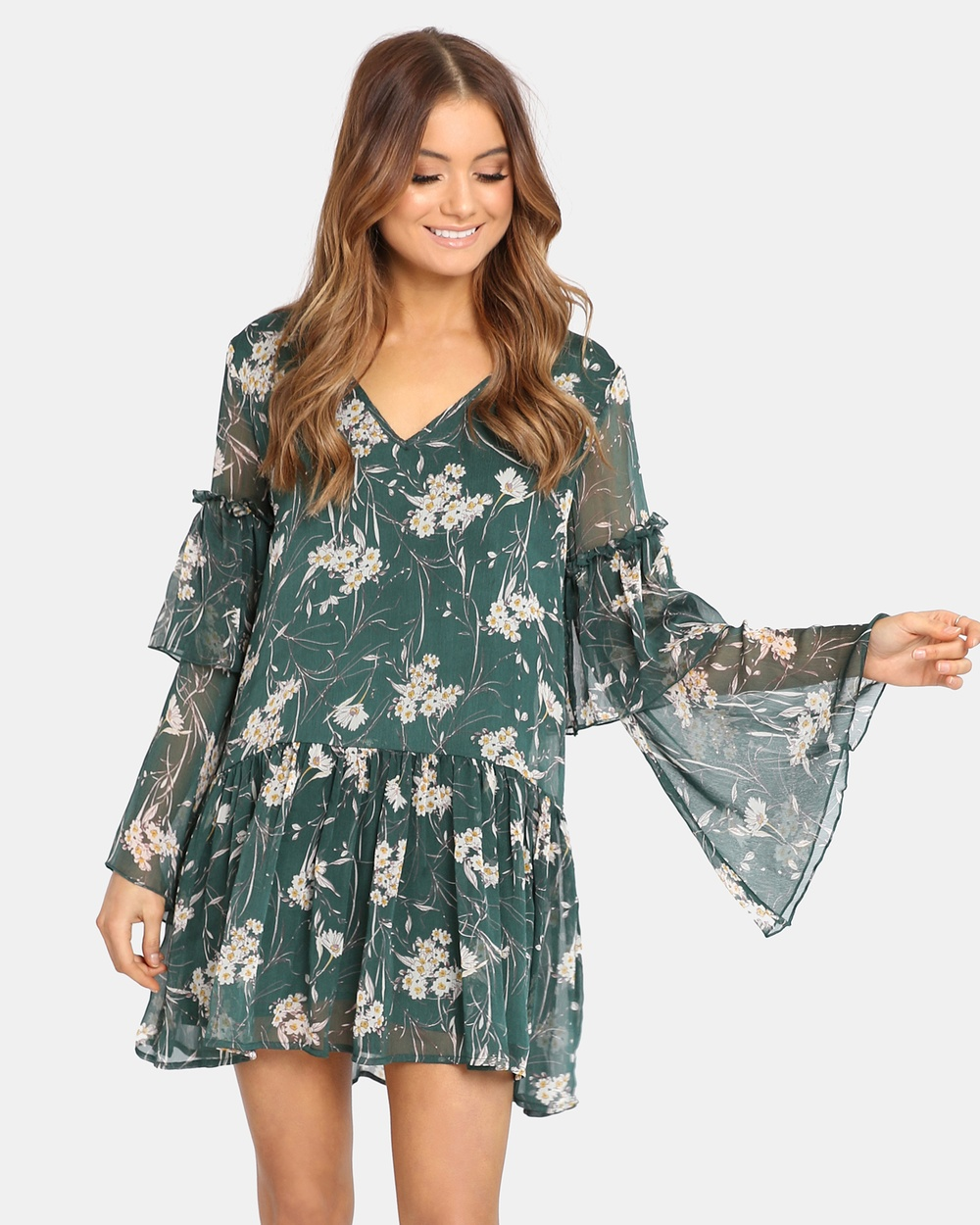Madison Square Eden Dress Printed Dresses Khaki Eden Dress