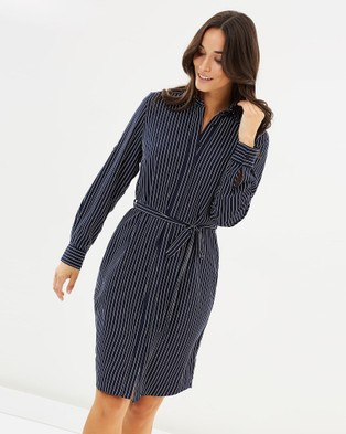 Farage – Lucinda Shirt Dress Navy