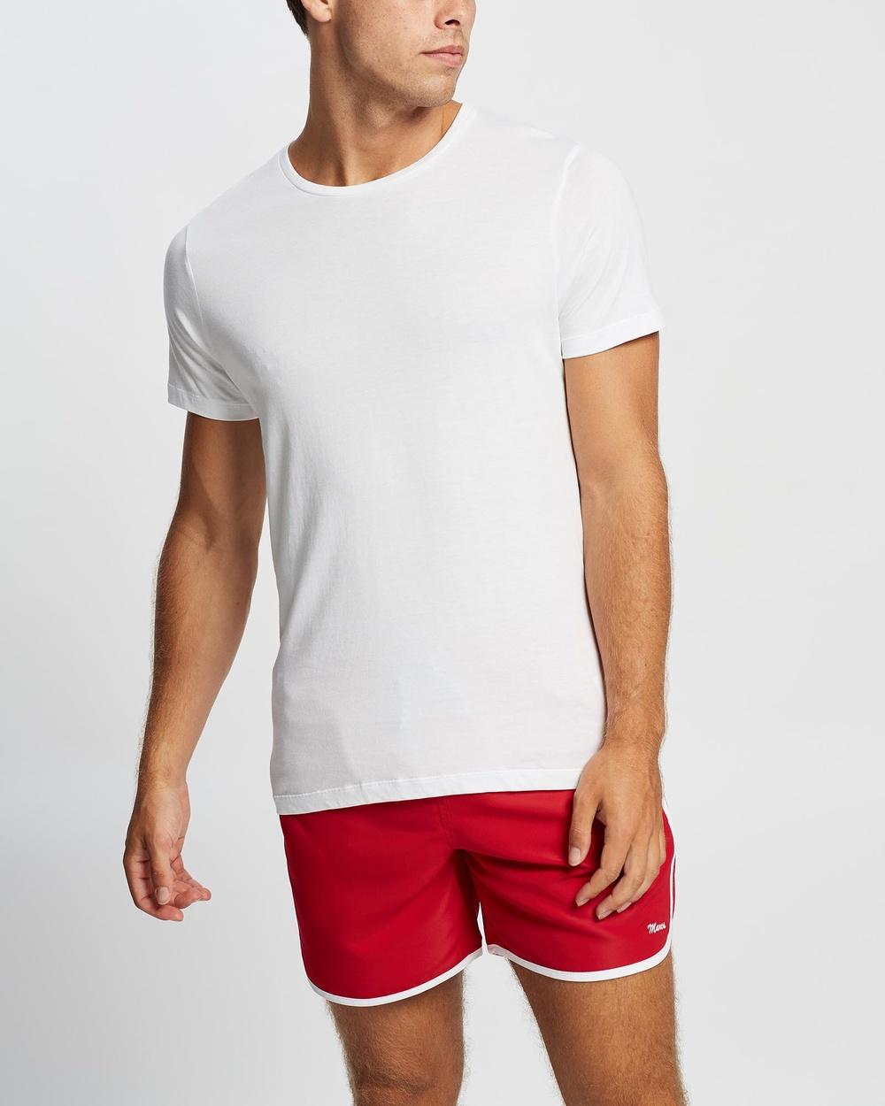 Marcs Brando Pima Tee T-Shirts & Singlets WHITE  Australia