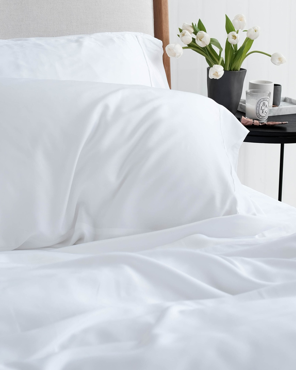 Mulberry Threads 100% Organic Bamboo Sheet Set Home White Australia