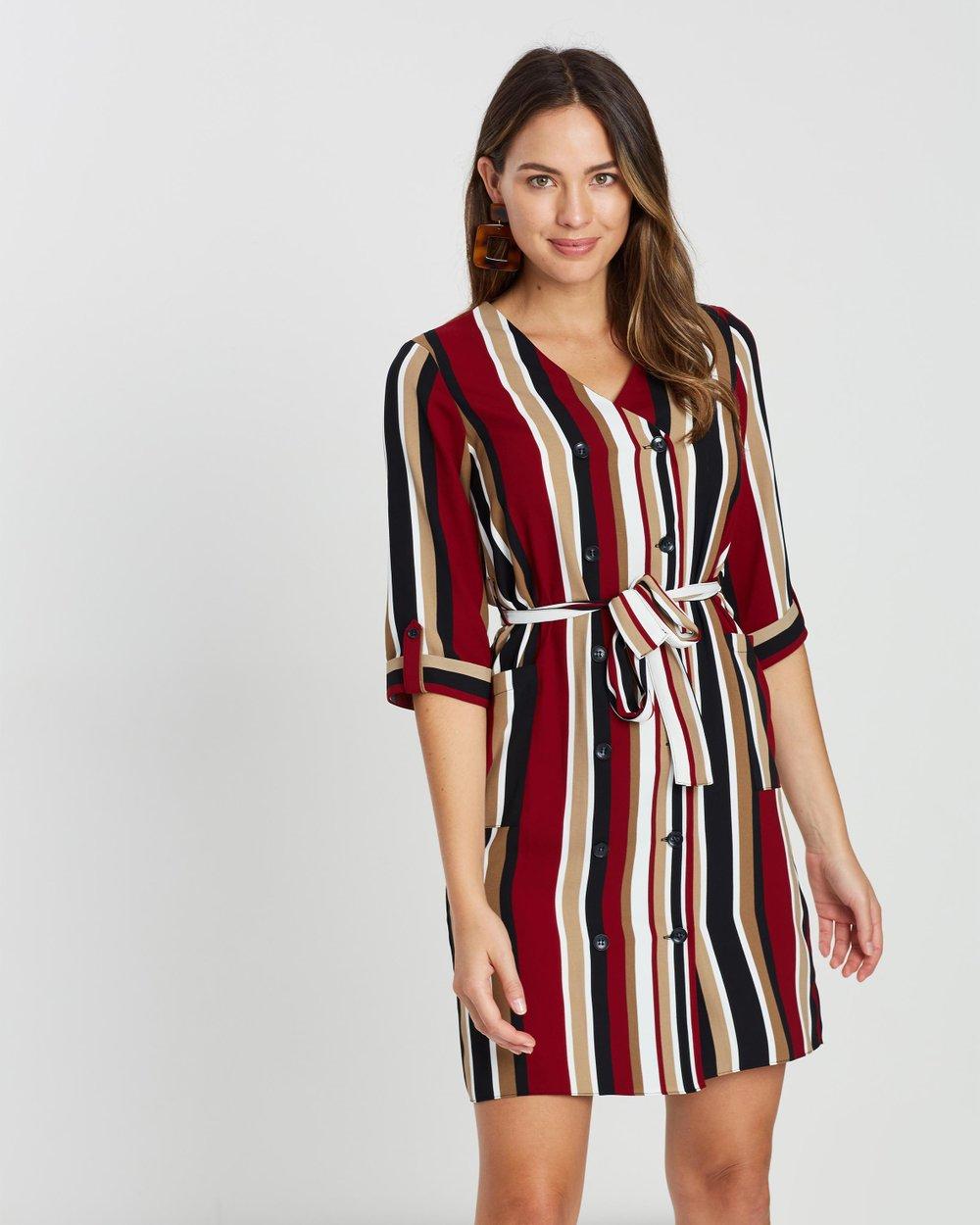 e4f55b1ad44a Stripe Shirt Dress by Dorothy Perkins Online | THE ICONIC | Australia