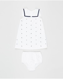 Polo Ralph Lauren - Bedford Corduroy Schiffli Dress - Babies