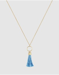 Elli Jewelry - Necklace Circle Tassel Festival Boho 925 Sterling Silver Gold-Plated