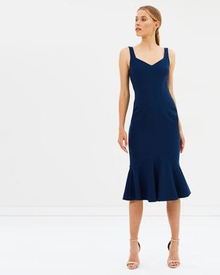 BY JOHNNY. – V Flare Midi Dress – Bodycon Dresses Royal Navy