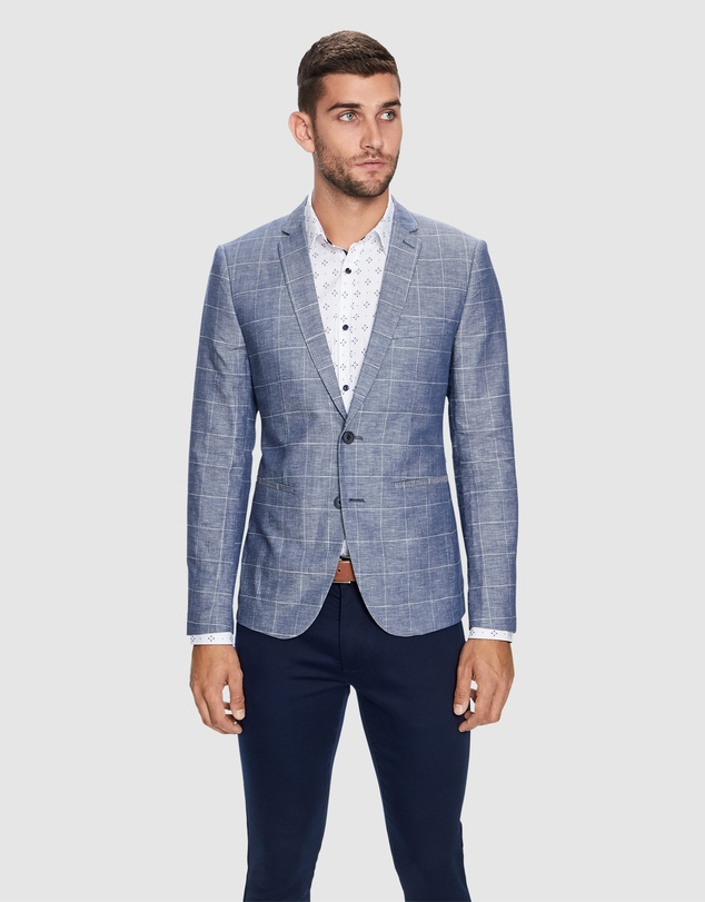 Yd. - Bellagio Linen Blazer