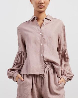 Des Sen Corbusier Crop Shirt - Tops (Rose)