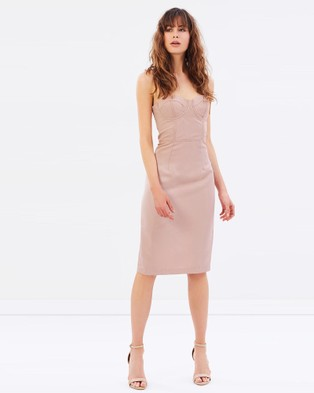 Cooper St – Canyon Shadows Bustier Dress – Dresses (Pink)