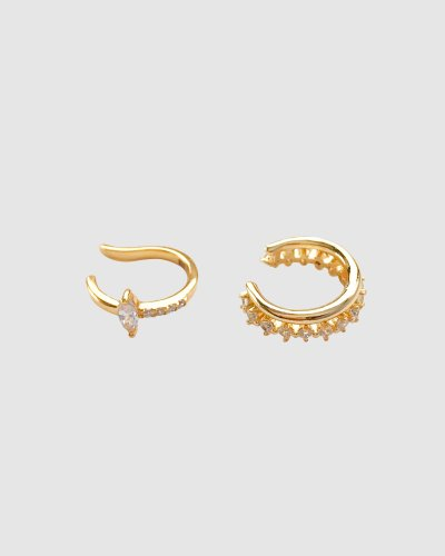 Gem Pave Ear Cuff Set