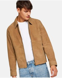 Topman - Suede Harrington Jacket