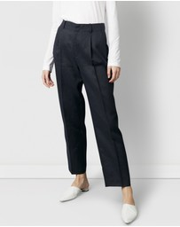 Nique - Sharp Tailored Linen Pants
